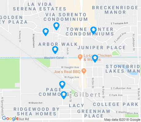 map of Heritage District apartments for rent
