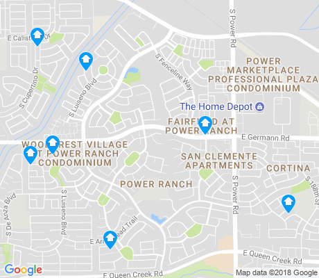 map of Power Ranch apartments for rent