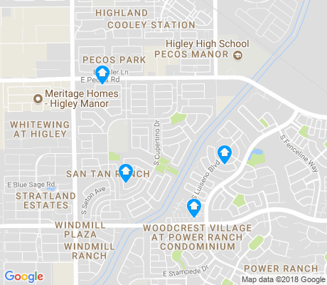 map of San Tan Ranch apartments for rent