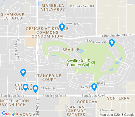 map of Seville apartments for rent