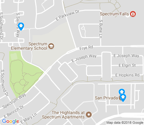 map of Spectrum at Val Vista apartments for rent