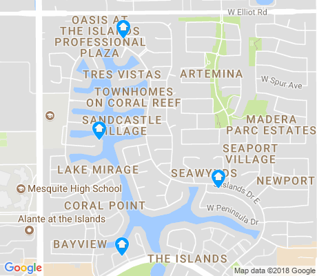 map of The Islands apartments for rent