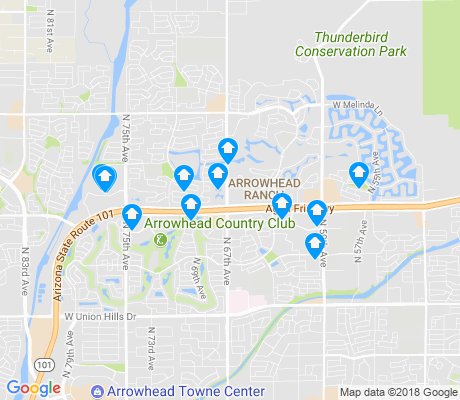 map of Arrowhead Ranch apartments for rent