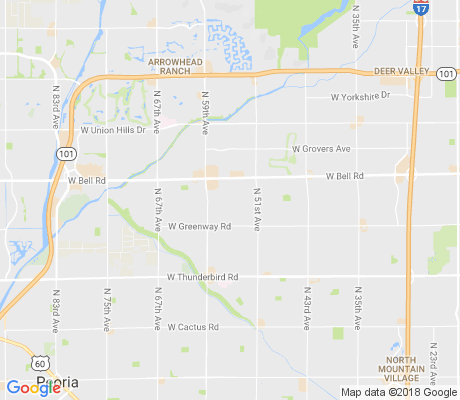 map of Bell-Greenway apartments for rent