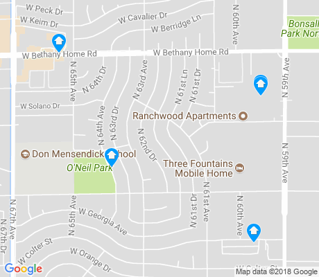 map of O'Neil Ranch apartments for rent