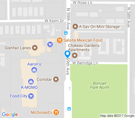 map of Ocotillo Rose apartments for rent