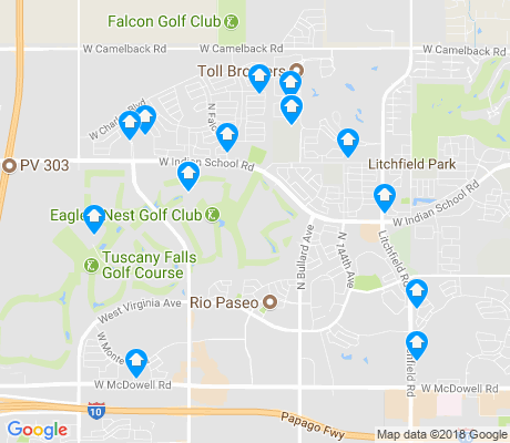 map of Palm Valley apartments for rent