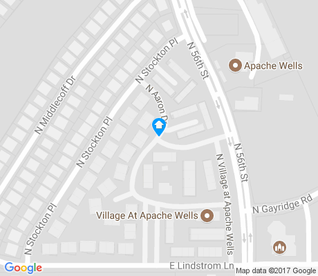 map of Apache Wells apartments for rent