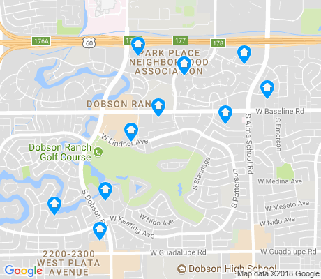 map of Dobson Ranch apartments for rent