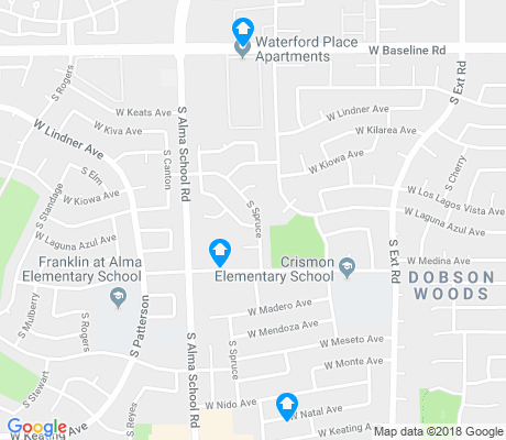 map of Dobson Woods apartments for rent