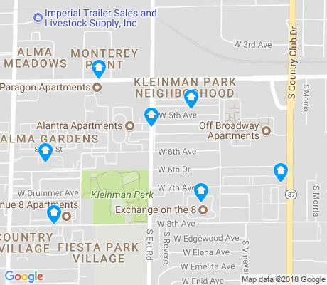 map of Kleinman Park apartments for rent