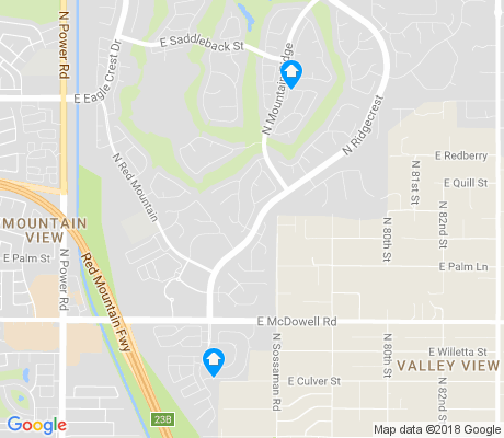map of Las Sendas apartments for rent