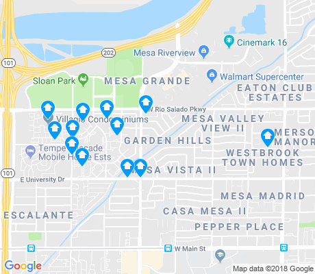 map of Mesa Grande apartments for rent