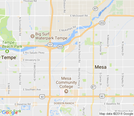 map of Mesa Vista apartments for rent