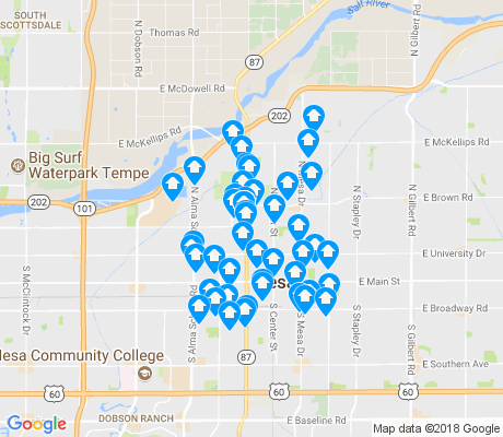 map of Pleasant Shadows apartments for rent