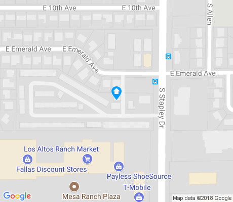 map of Poinsettia apartments for rent