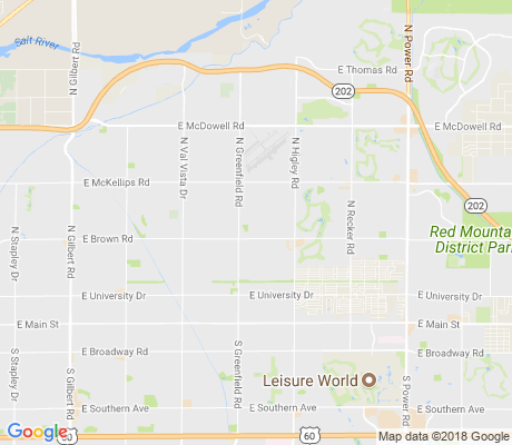 map of Princess Park apartments for rent