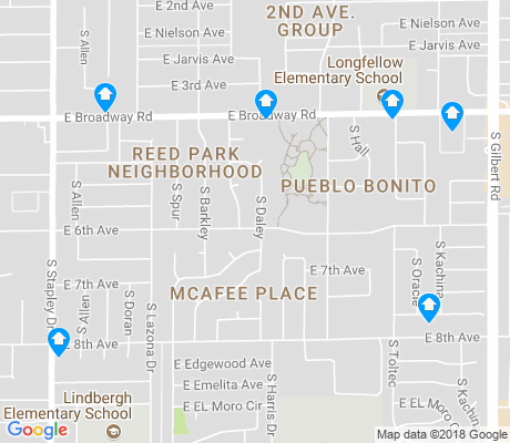 map of Reed Park apartments for rent
