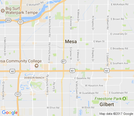 map of Rotary Park apartments for rent