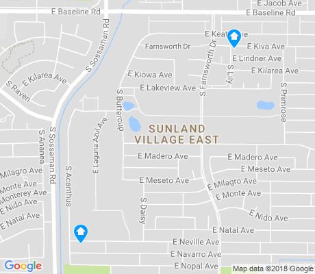 map of Sunland Village East apartments for rent