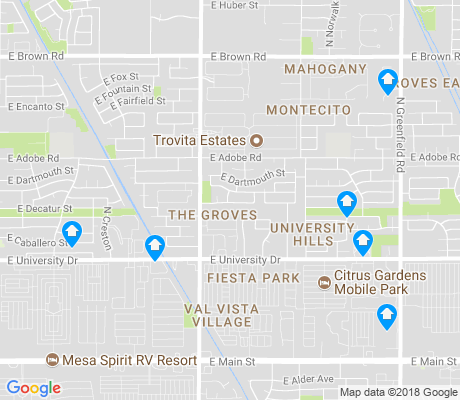 map of The Groves apartments for rent