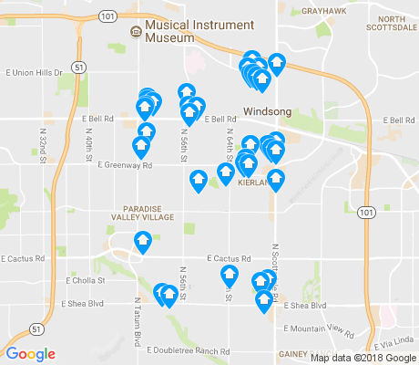 map of 85254 apartments for rent