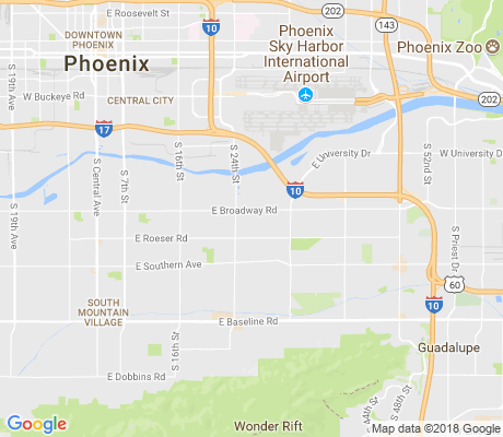 map of Broadway Estates apartments for rent