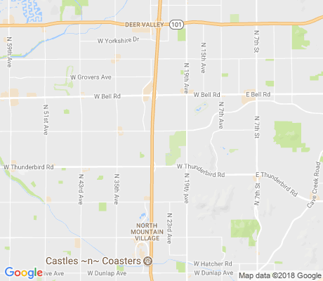 map of Canyon Creek Deer Valley apartments for rent
