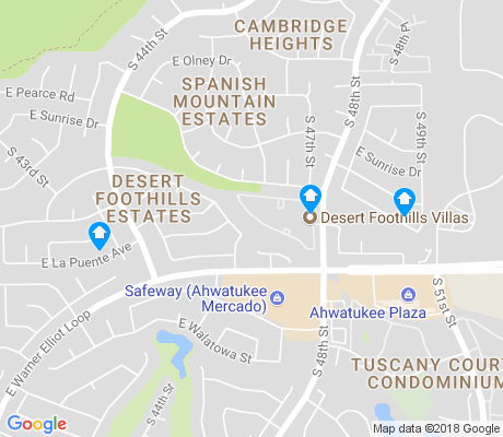 map of Desert Foothills Estates apartments for rent