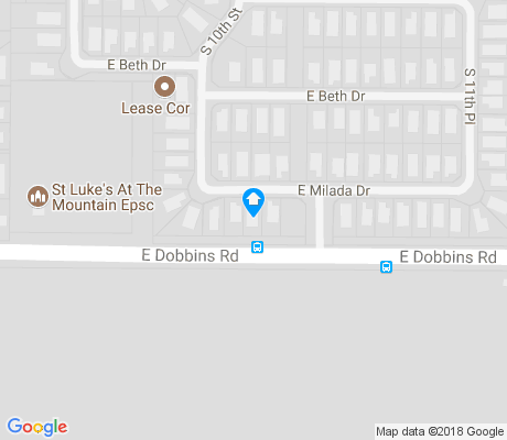 map of Dobbins Creek apartments for rent