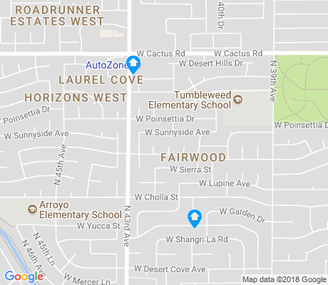 map of Fairwood apartments for rent