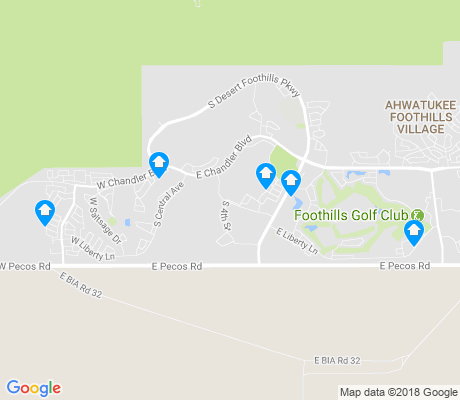 map of Foothills Golf Club apartments for rent