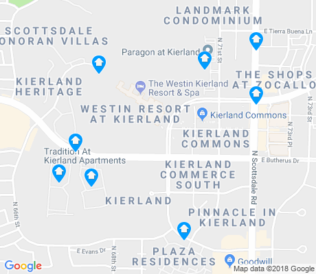 map of Kierland apartments for rent