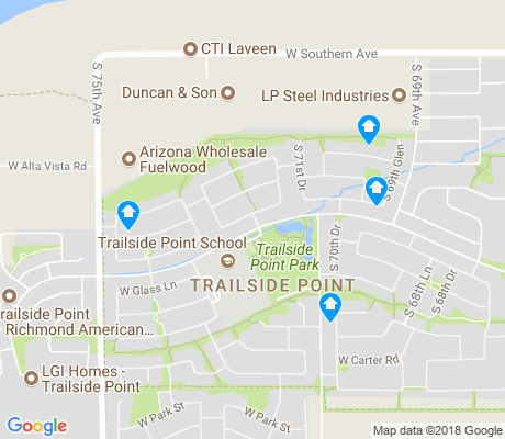 map of Laveen Farms apartments for rent