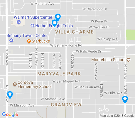 map of Maryvale Park apartments for rent