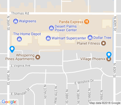 map of North East Village apartments for rent