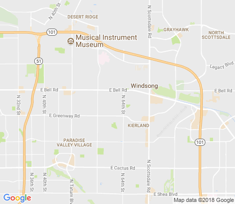 map of North Ranch apartments for rent