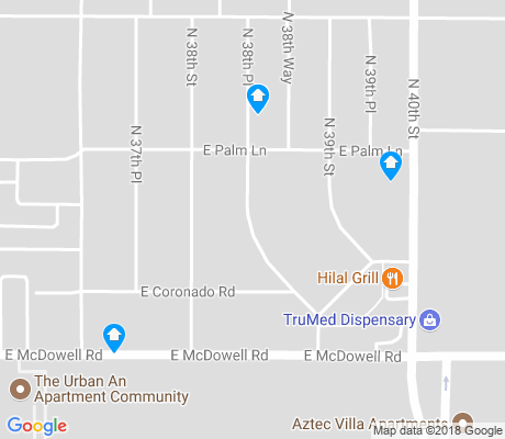 map of Papago Vista apartments for rent