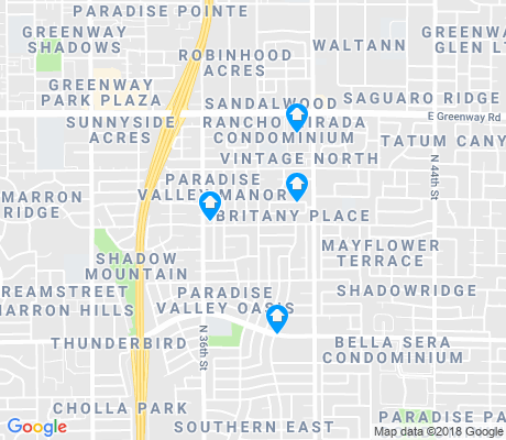 map of Paradise Valley Oasis apartments for rent