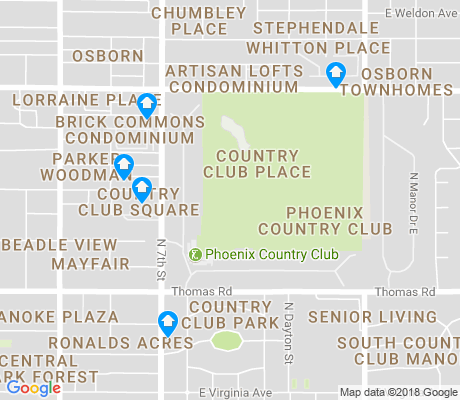 map of Phoenix Country Club apartments for rent