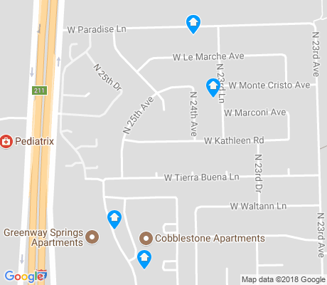map of Ponderosa Homes North apartments for rent