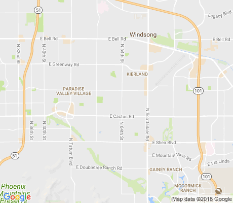 map of Shea North Estates apartments for rent