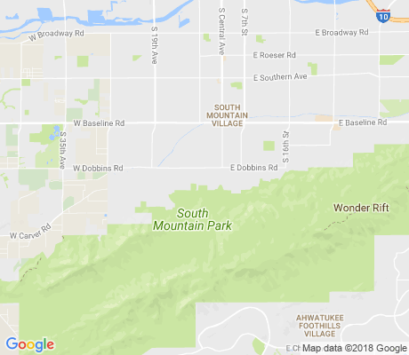 map of South Mountain Heights apartments for rent