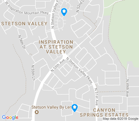 map of Stetson Valley apartments for rent