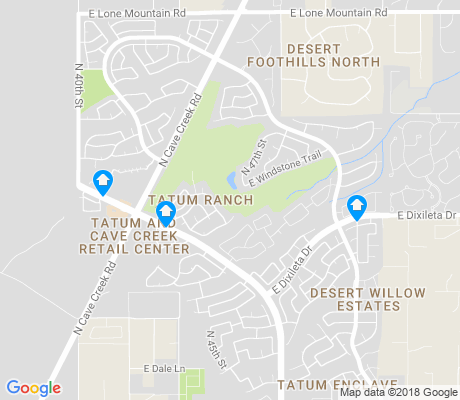 map of Tatum Ranch apartments for rent