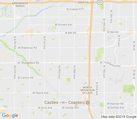 map of Thunderbird Village apartments for rent