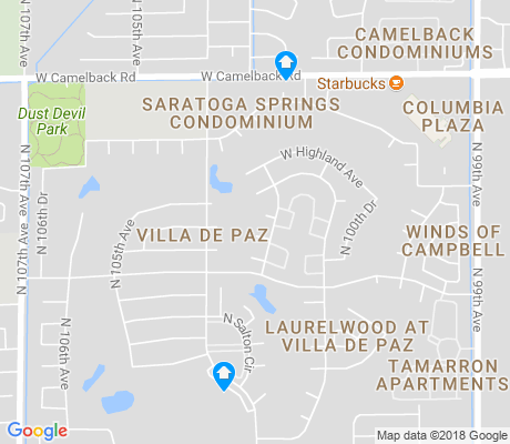 map of Villa de Paz apartments for rent