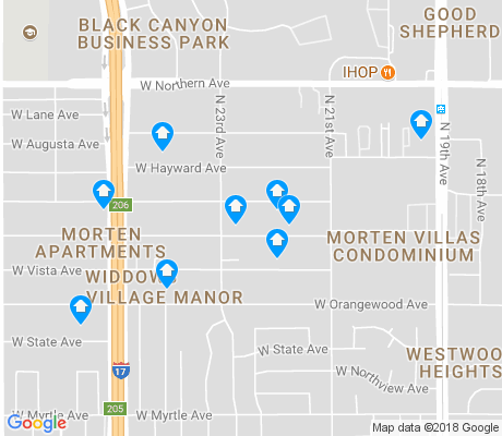 map of Vista Income Estates apartments for rent