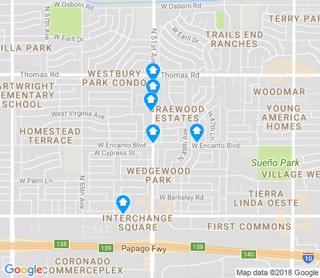 map of Wedgewood Park apartments for rent