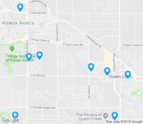 map of Queen Creek apartments for rent